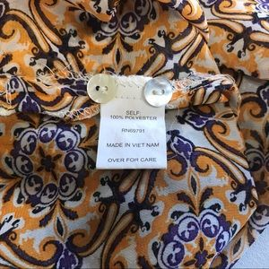Fig & Flower Tops - Fig & Flower XL Kendra Tunic Top Floral Sheer